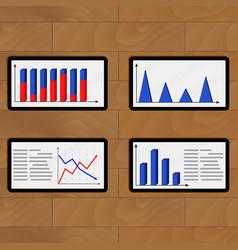 Set of tablets report economic vector