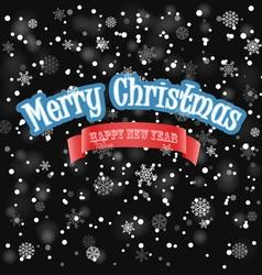 Christmas background with snowfall vector image