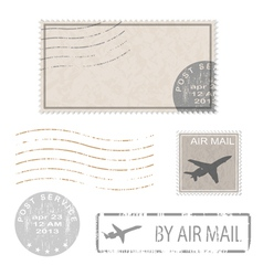 Air mail stam vector