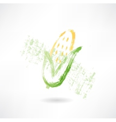 Corn grunge icon vector image