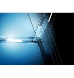 Technical dark corporate background vector image