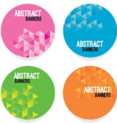 Set of four abstract banners vector