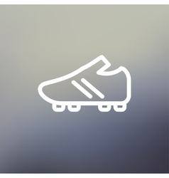 Soccer shoes thin line icon vector