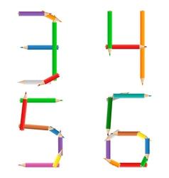 pencil alphabet vector image
