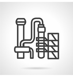 Gasoline factory simple line icon vector