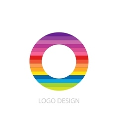 Colorful logo letter vector