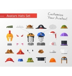 Isolated flat design hats and caps for social vector