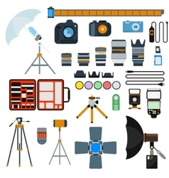 Photo icons collection vector