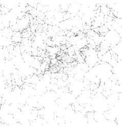 Abstract background Black connecting dots on white vector image