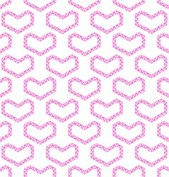 Abstract love seamless pattern - pink heart shapes vector image vector image