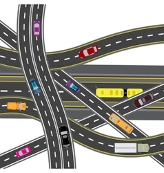 Abstract road junction The intersections of vector image