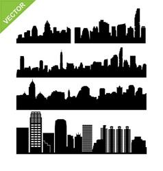 Bangkok skyline silhouettes set 2 vector image vector image