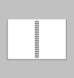 Blank open notebook vector