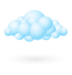 Bubble cloud icon on white background for design vector