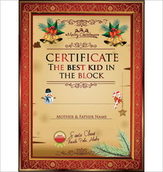 Certificate the best kid in the block vector image vector image