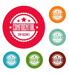 Confidental logo simple style vector