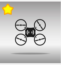 drone black icon button logo symbol vector image vector image