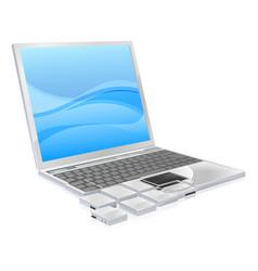 laptop pieces concept vector image vector image
