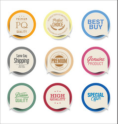 Modern bubble speech sticker collection vector