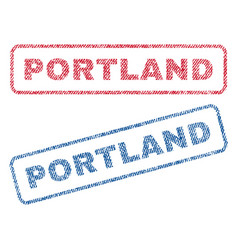 Portland textile stamps vector