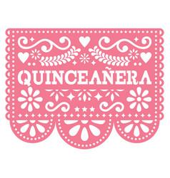 Quinceanera papel picado design - mexican vector