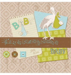 scrapbook vintage design vector image