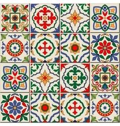 Seamless moroccan portuguese azulejo ornaments vector