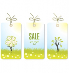 set of nature tags vector image