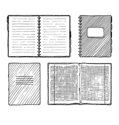 set of notebooks vector image vector image