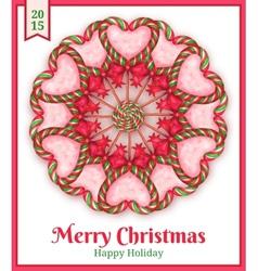 Sugar candies holiday card vector