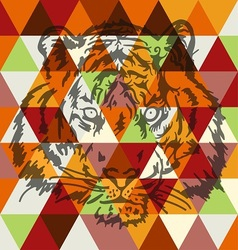Tiger face poster art vector