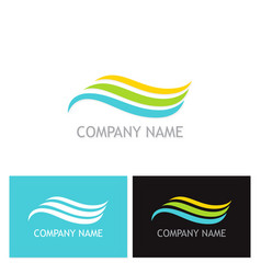 wave beauty flow company logo vector image