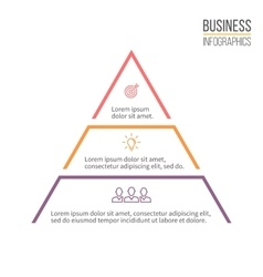 Pyramid triangle with 3 steps levels vector image
