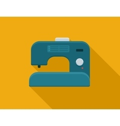 Flat sewing machine vector