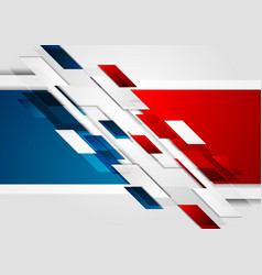 Bright red blue tech corporate background vector