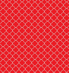 Quatrefoil red vector image