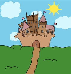 Castle on the hill art vector