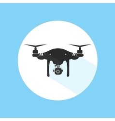 Drone logo design icon silhouette technology vector