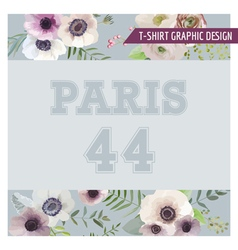 Floral shabby chic graphic design - for t-shirt vector