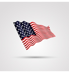 Flag of us isolated on white vector