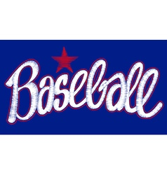 Baseball digitized machine embroidery script with vector