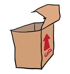 Freehand drawn cartoon empty box vector