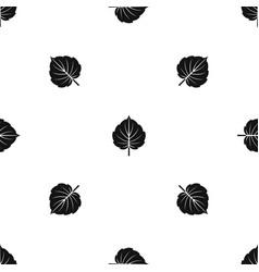 Alder leaf pattern seamless black vector