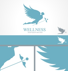 Angel Wellness Medical Logo Concept template vector image