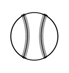 baseball ball isolated vector image vector image