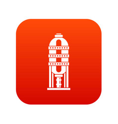 Capacity for oil storage icon digital red vector