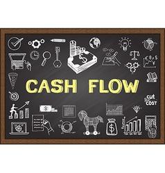 Cash flow vector image vector image