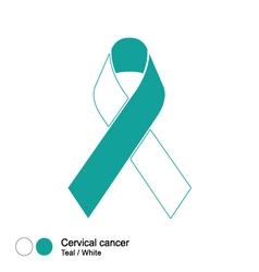 Cervical cancer ribbon vector
