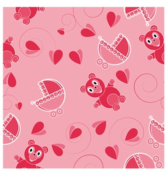 Children pink abstract seamless pattern vector