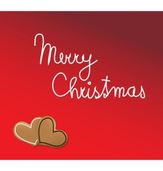 christmas gingerbread hearts vector image